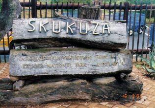 1e Skukuza sign