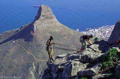 Absail, Table mountain.