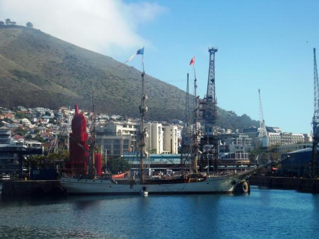 Europa at the Wtaerfront with Signal Hill in background