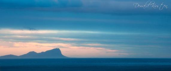 Fading Rooi Els - A long shot over Falsebay of the iconic Rooi Els mountain and point from Muizenburg.