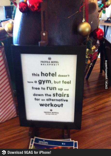 No gym