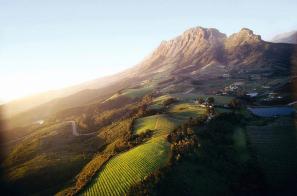 Simonsberg and Helshoogte Pass outside Stellenbosch