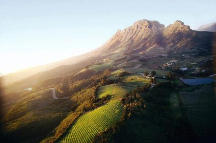Simonsberg and Helshoogte Pass outside Stellenbosch