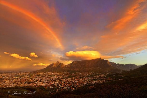 Sunset with Rainbow - James Gradwell Photography & Photo Tours