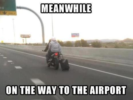 To the airport