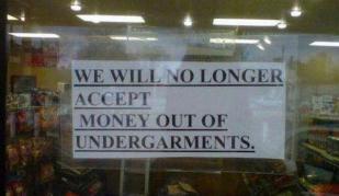 Underpant money
