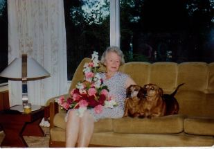 Image8c Birthday girl with dogs