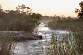 Sand River in morning mist