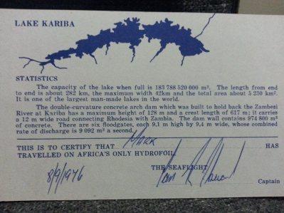 Lake Kariba statistics