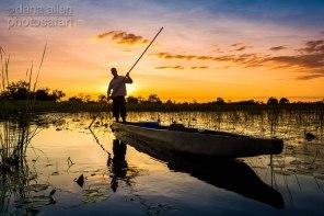 Mokoro in Moremi Game Reserve, Okavango Delta, Botswana